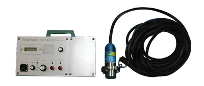 Small size motor drive-type release transponder control device